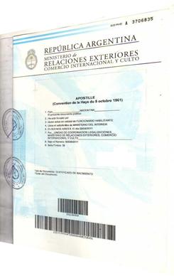 Apostilla de la haya argentina ministerio de relaciones for Tramites web ministerio del interior